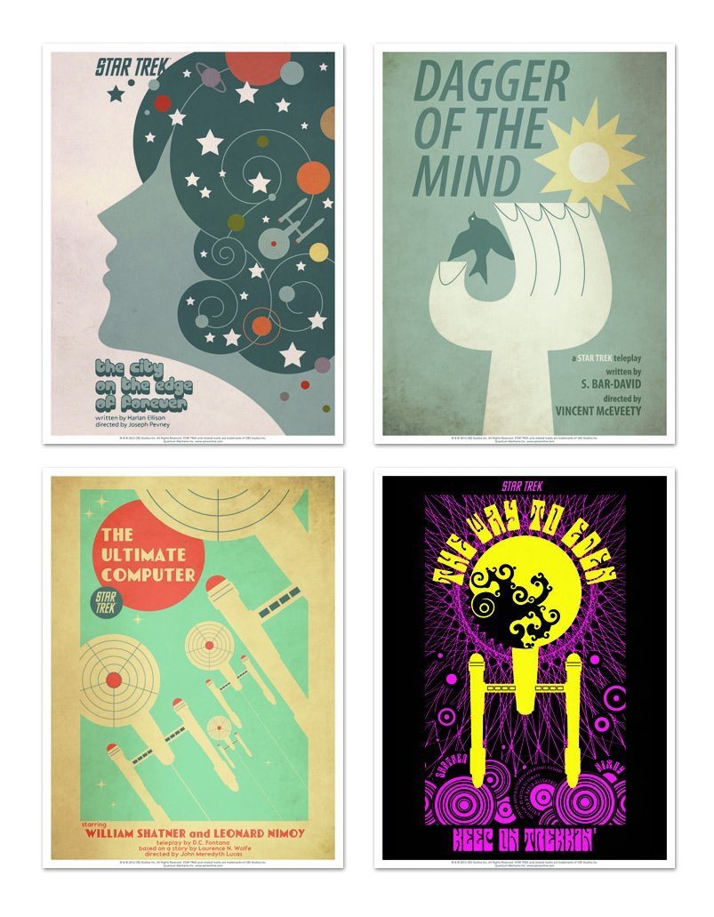 Star Trek – Art prints set 1