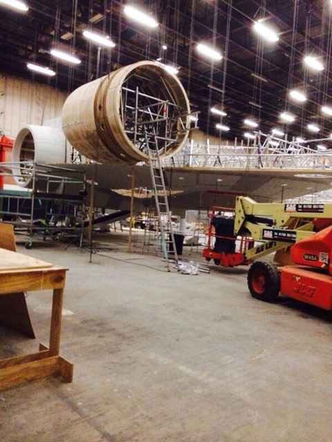 Star Wars 7 Millenium Falcon X-Wing behind the scenes