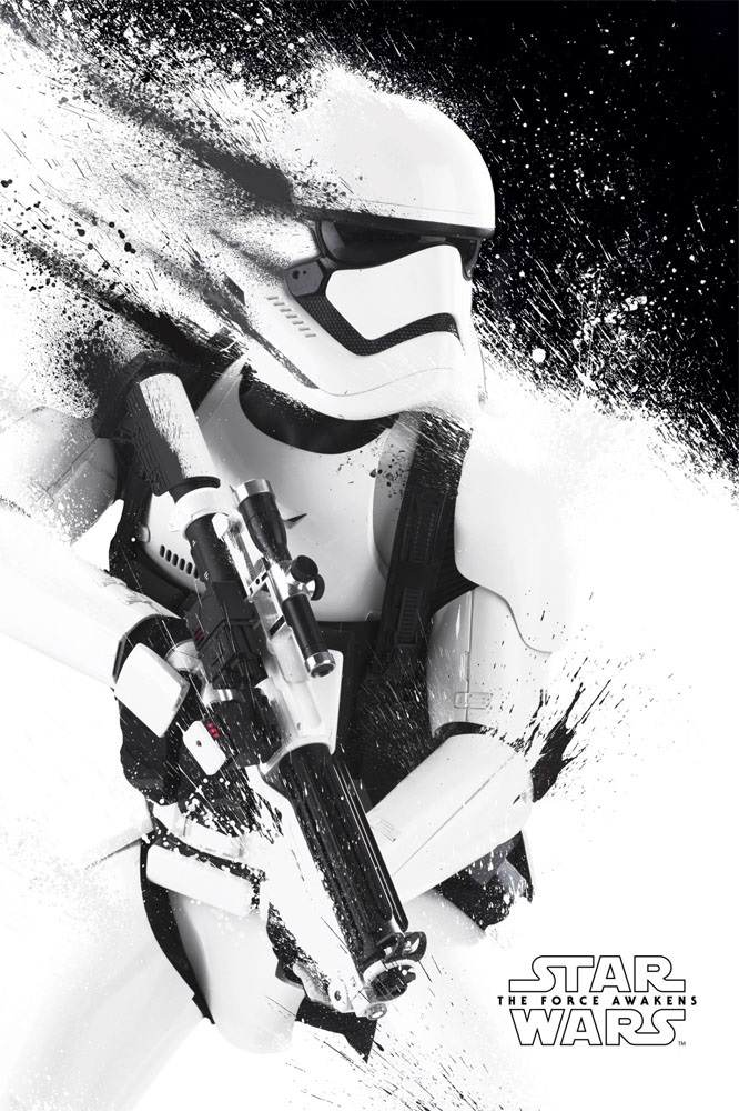 Stormtrooper Paint – Star Wars VII Poster