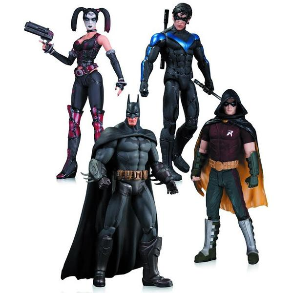 Batman Arkham City 4-pack actionfigurer