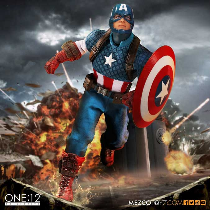 Captain America actionfigur – Mezco / One 12 Collective