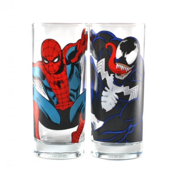 Spiderman & Venom Glas set – Två pack