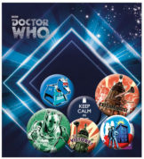 Doctor Who knappar 6-Pack Retro