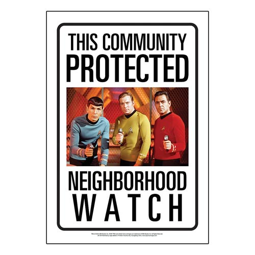 Star Trek Community Watch Tin Sign