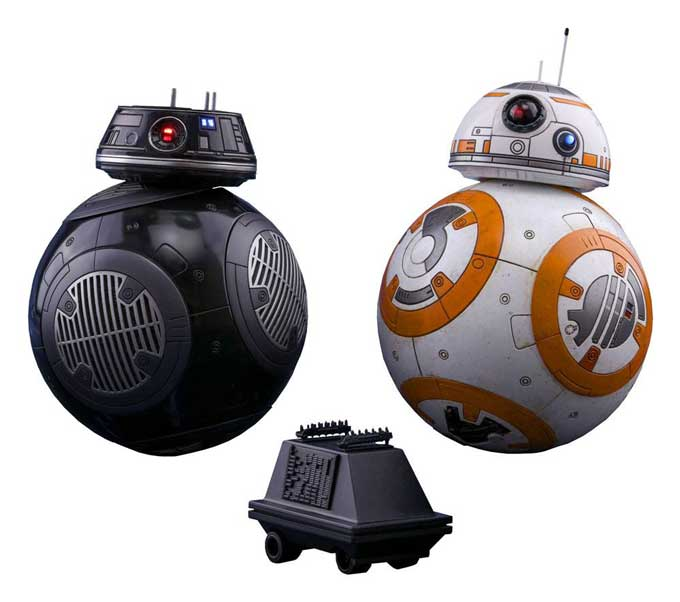 BB-8 & BB-9E 1/6 Star Wars VIII Hot Toys Actionfigur 2-Pack