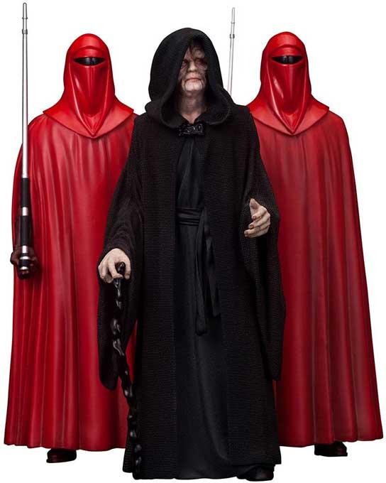 Emperor Palpatine & The Royal Guards PVC Staty 3-Pack 1/10