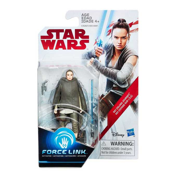 Rey Island Journey Star Wars VIII Force Link Actionfigur