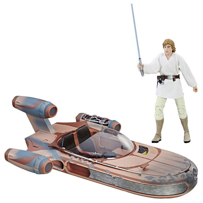 Luke Skywalkers X-34 Landspeeder Star Wars Black Series Vehicle