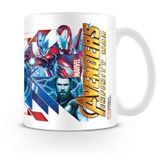 Avengers Infinity War Mugg Red Blue Assemble