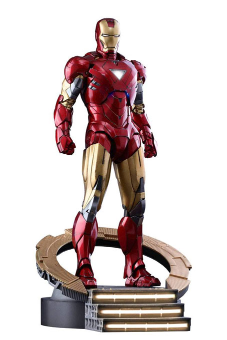 Iron Man Mark VI The Avengers Hot Toys Diecast MMA Figur