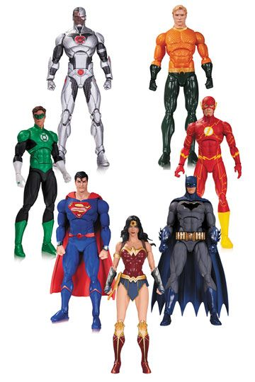 Justice League DC Rebirth Actionfigurer 7-Pack