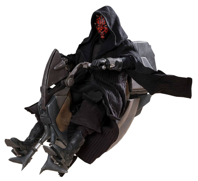 Darth Maul & Sith Speeder – Episode I DX Series Actionfigur 1/6