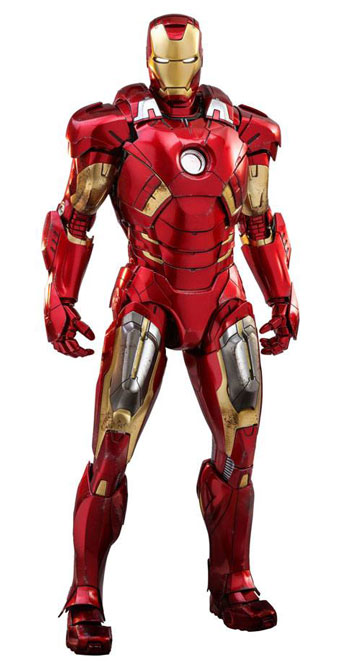 Iron Man Mark VII Avengers Diecast Movie Masterpiece Actionfigur 1/6