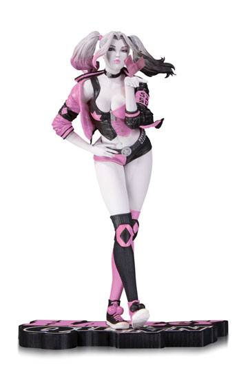 Harley Quinn Valentine Staty DC Comics Pink, White & Black by Stanley Lau
