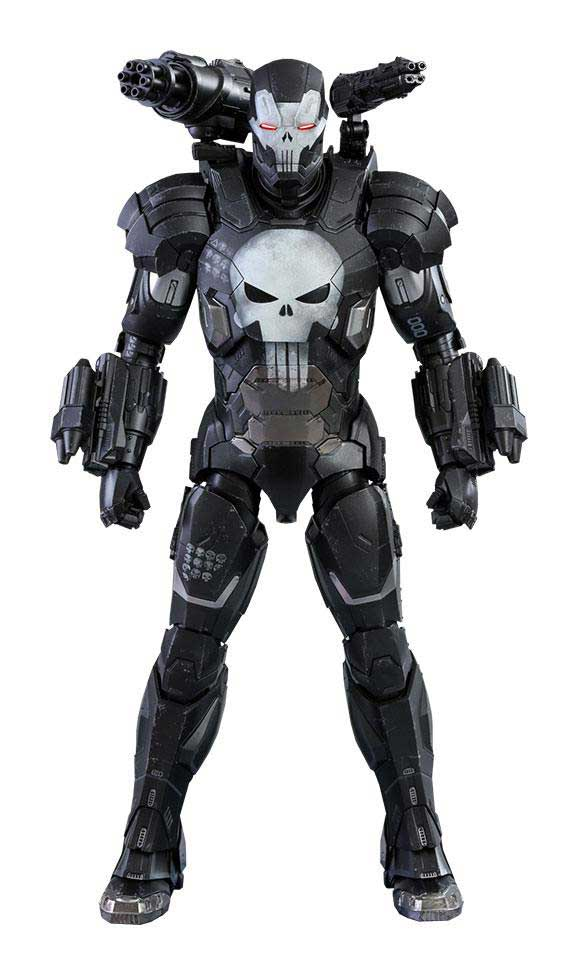 Marvel Future Fight Video Game Masterpiece Actionfigur 1/6 The Punisher War Machine Armor