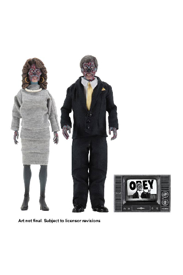 Aliens They Live Retro Actionfigur 2-pack
