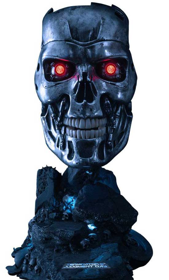T-800 Endoskeleton Terminator 2: Judgment Day Replica 1/1 Mask