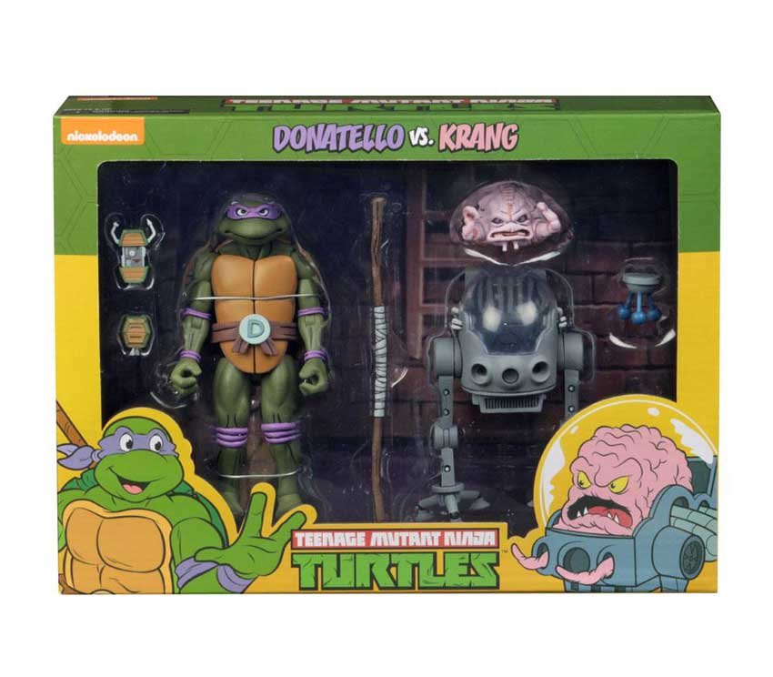 Donatello vs Krang in Bubble Walker 2-Pack Neca TMNG Actionfigur