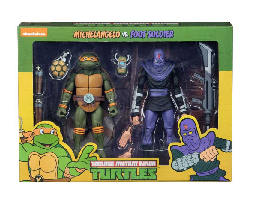 Michelangelo vs Foot Soldier 2-Pack Neca TMNG Actionfigur