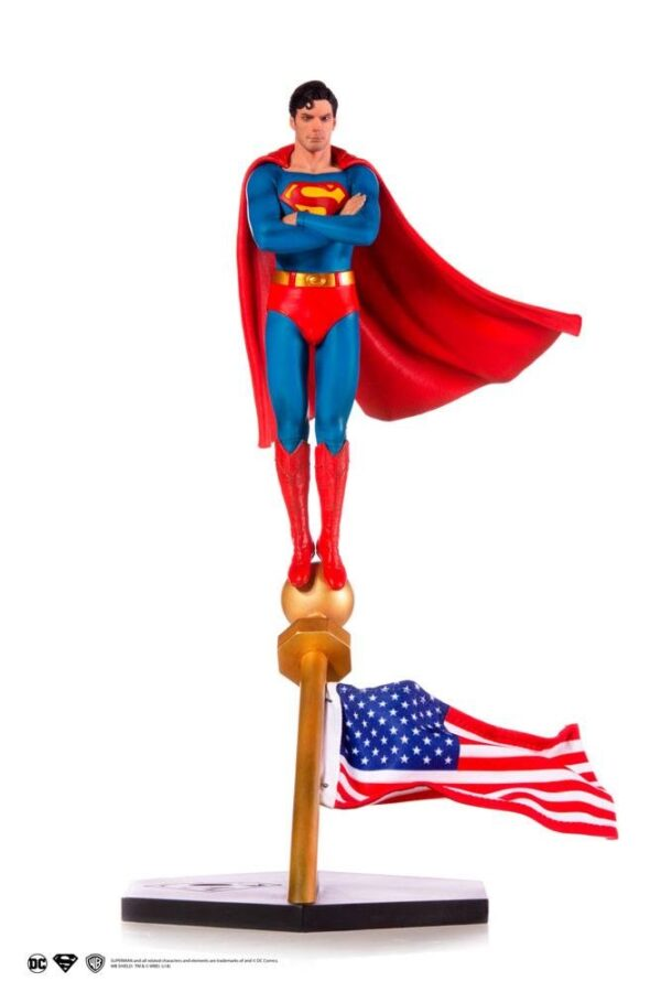 Superman The Movie 1978 DC Comics Deluxe Art Scale Staty