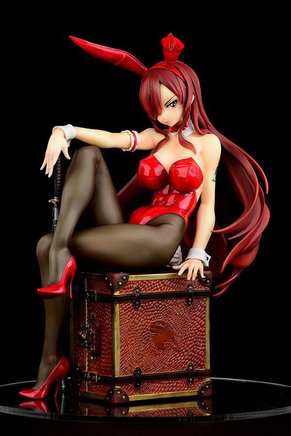 Erza Scarlet Bunny Girl Style Type Red Fairy Tail PVC Staty