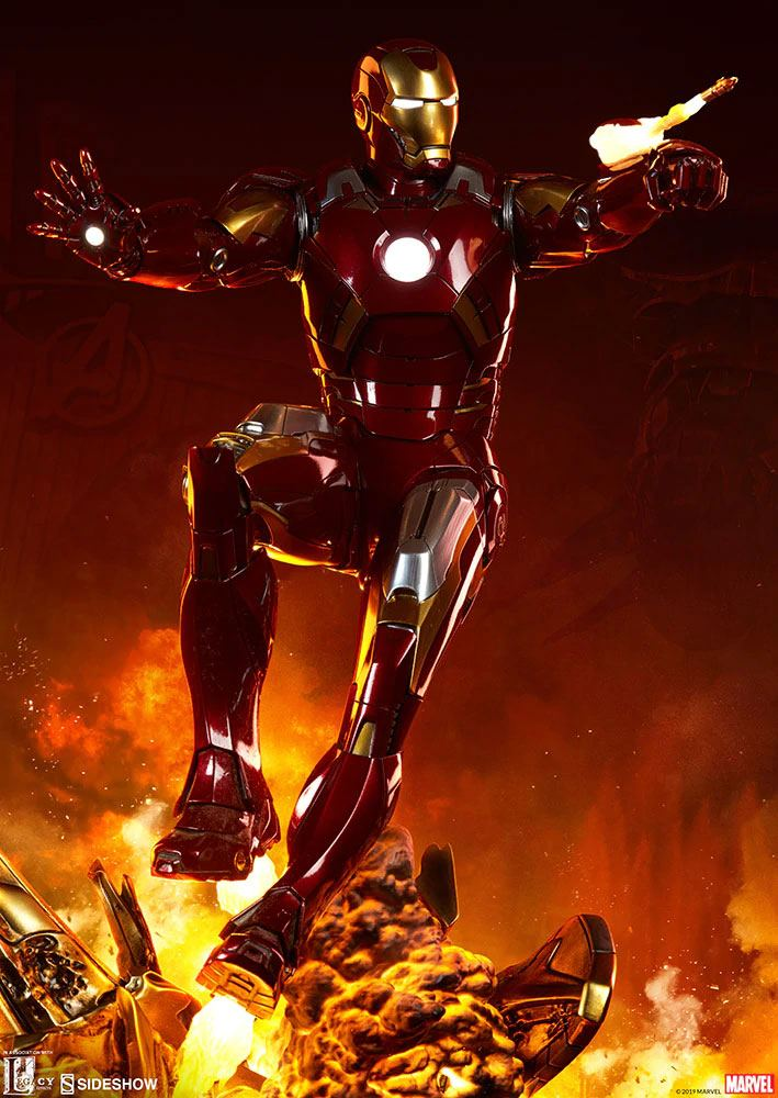 Iron Man Mark VII The Avengers Maquette Staty