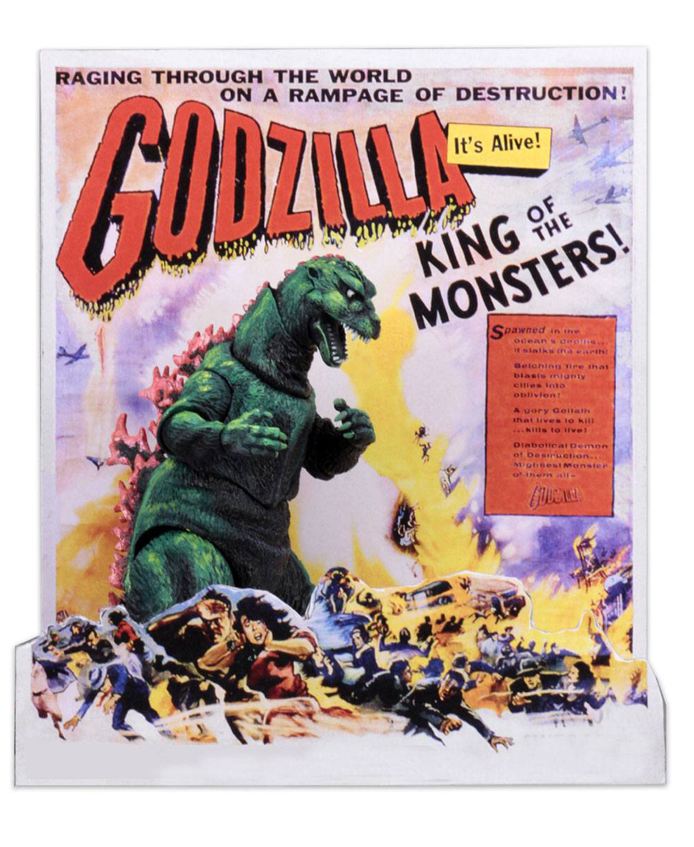 Godzilla Head to Tail 1956 US Movie Poster Version Actionfigur