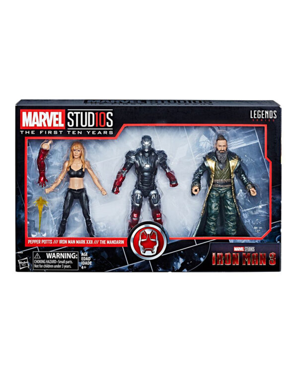 Pepper, Mark XXII & Mandarin Iron Man 3 Marvel Legends Actionfigurer