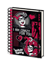 Harley Quinn I Am Crazy For You DC Comics A5 Anteckningsbok
