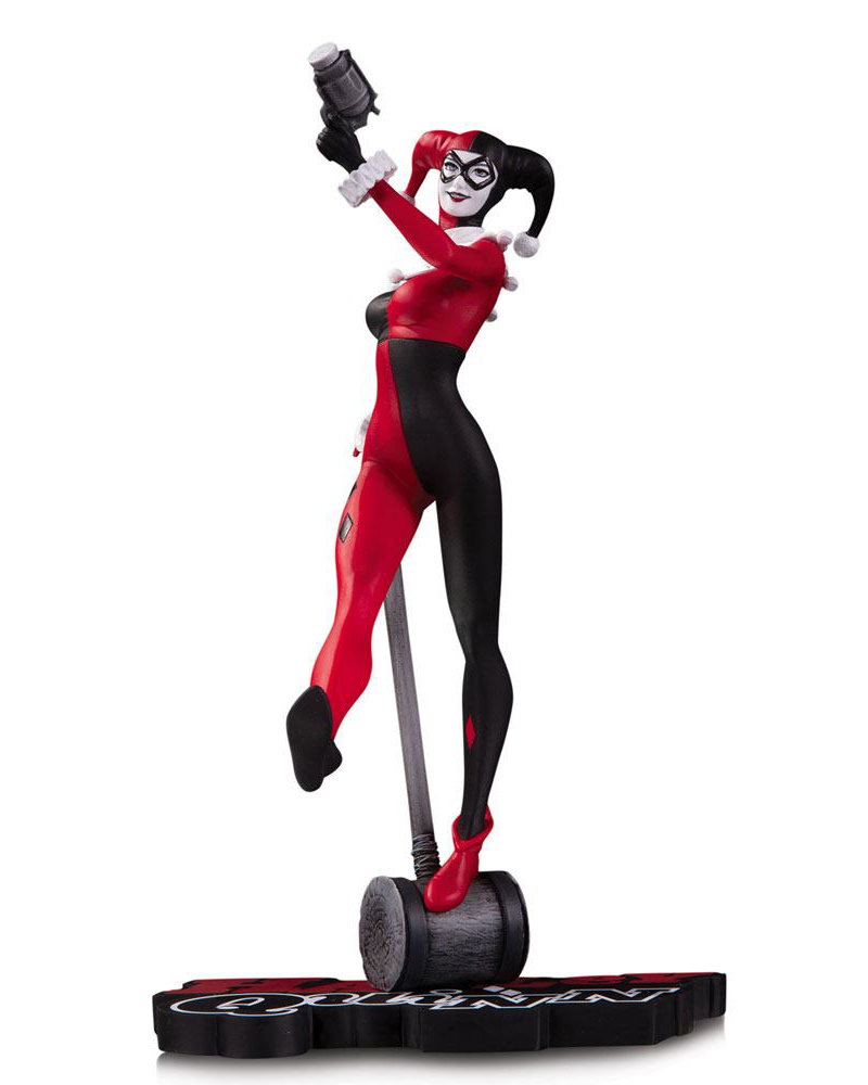 Harley Quinn by Stanley Lau DC Comics Red, White & Black Staty