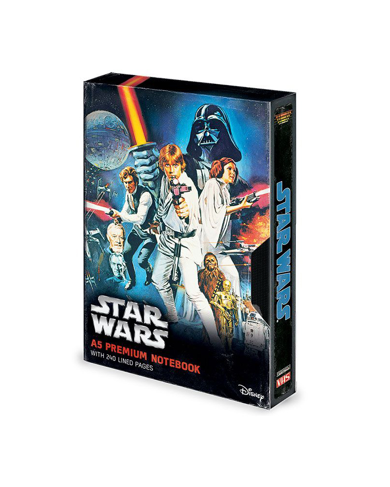 Star Wars A New Hope VHS Premium Notebook A5
